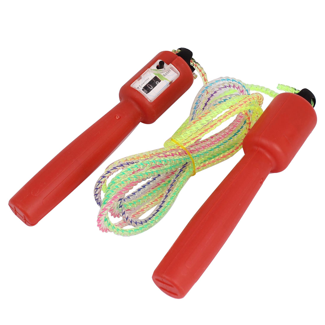 8Ft Length Gym Fitness Plastic Adjustable Speed Skipping Jumping Rope Red