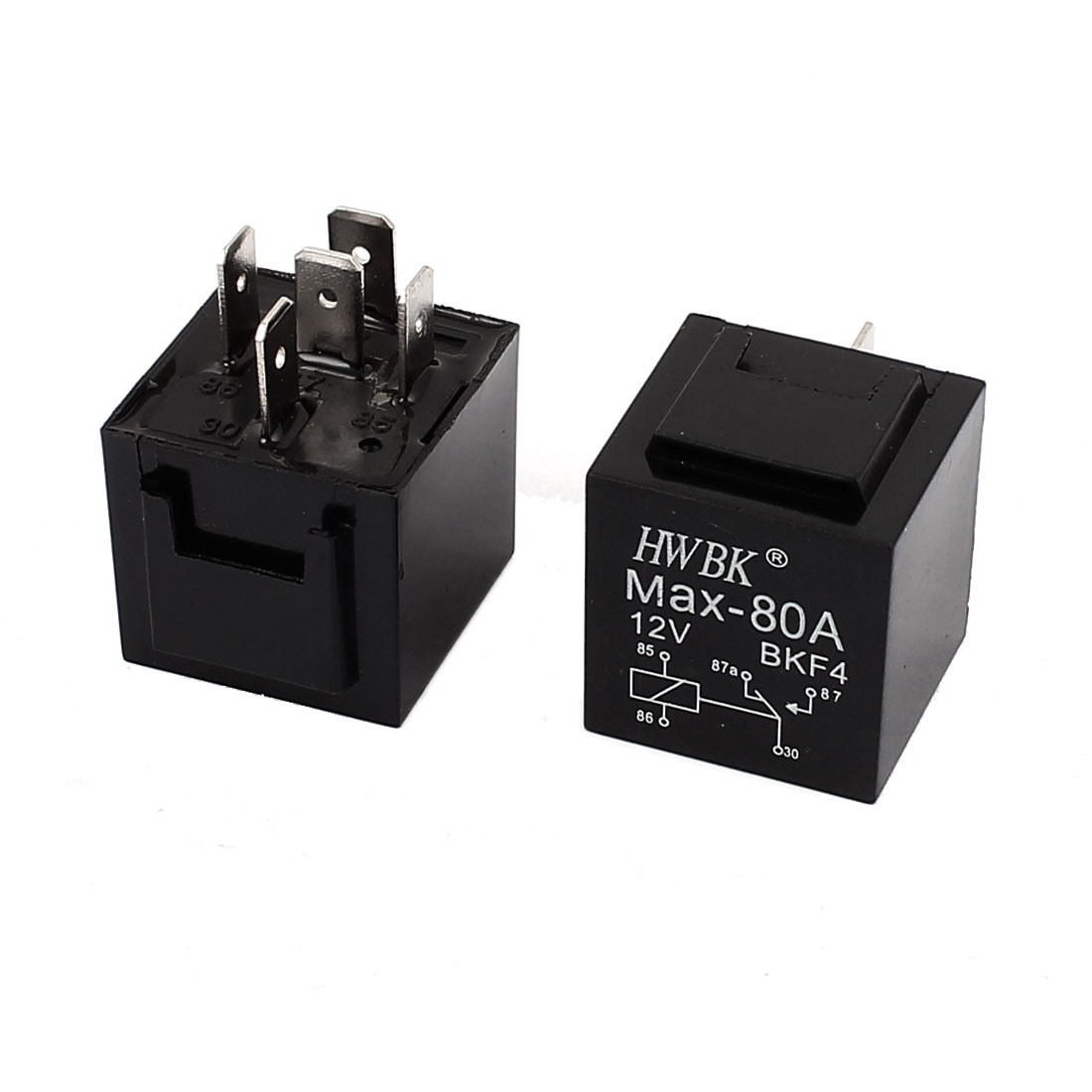 Universal 12V 80A 5Pin SPDT Power Relay PCB Type 2pcs
