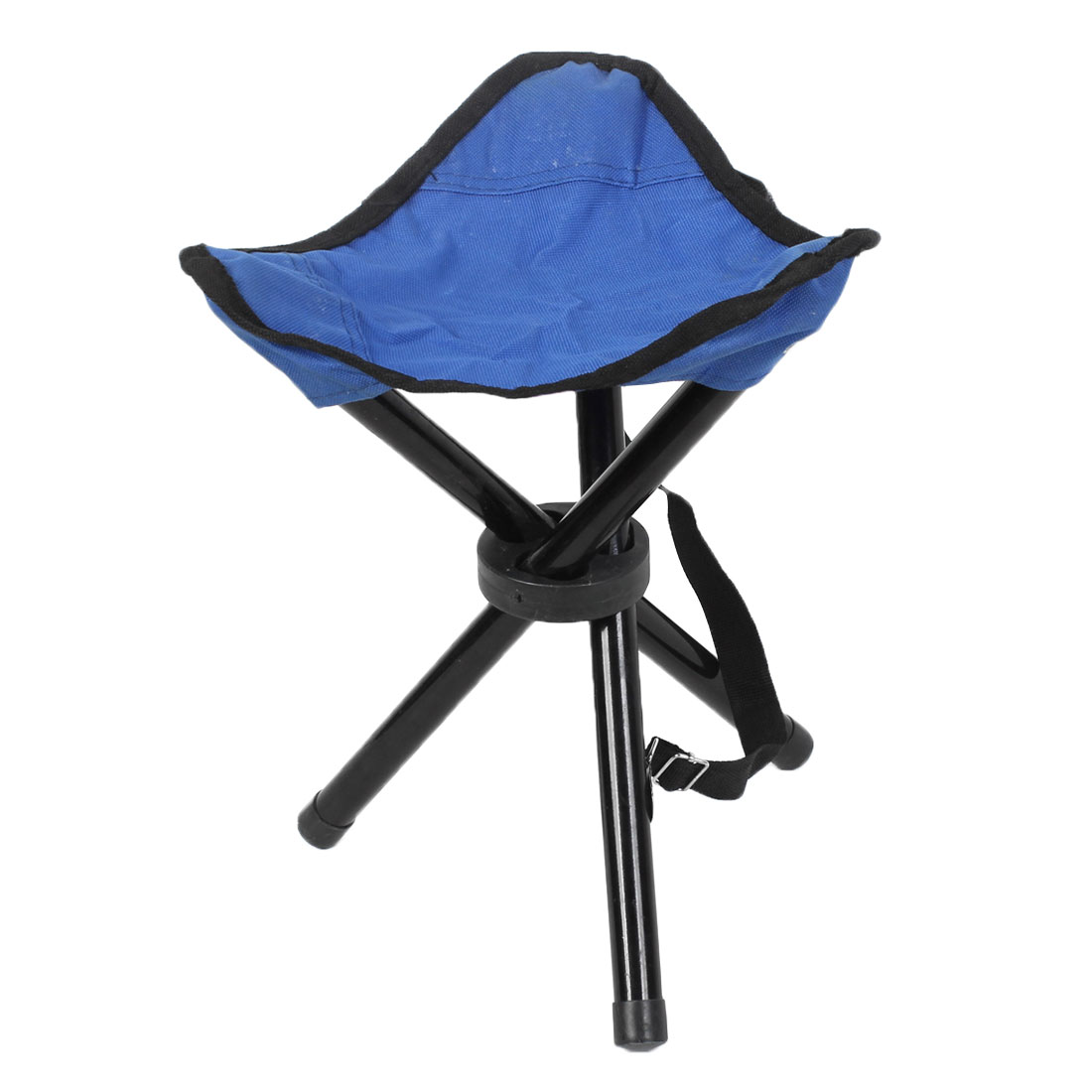 Outdoor Traveling Camping Fishing Folded Tripod Stool Chair Seat Blue