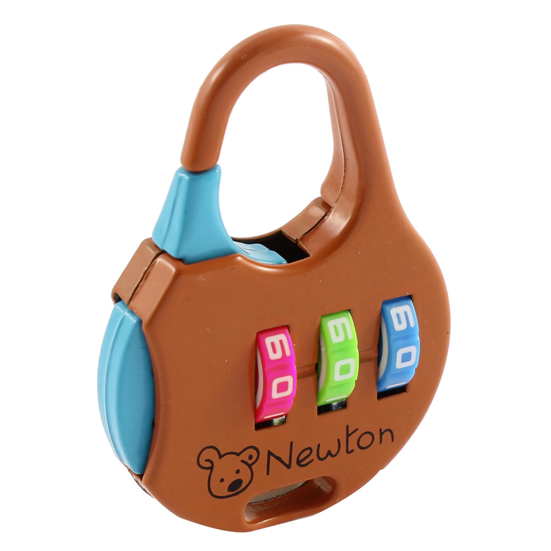 Travel Suitcase Metal Code 3 Dial Digit Password Combination Lock Padlock Brown