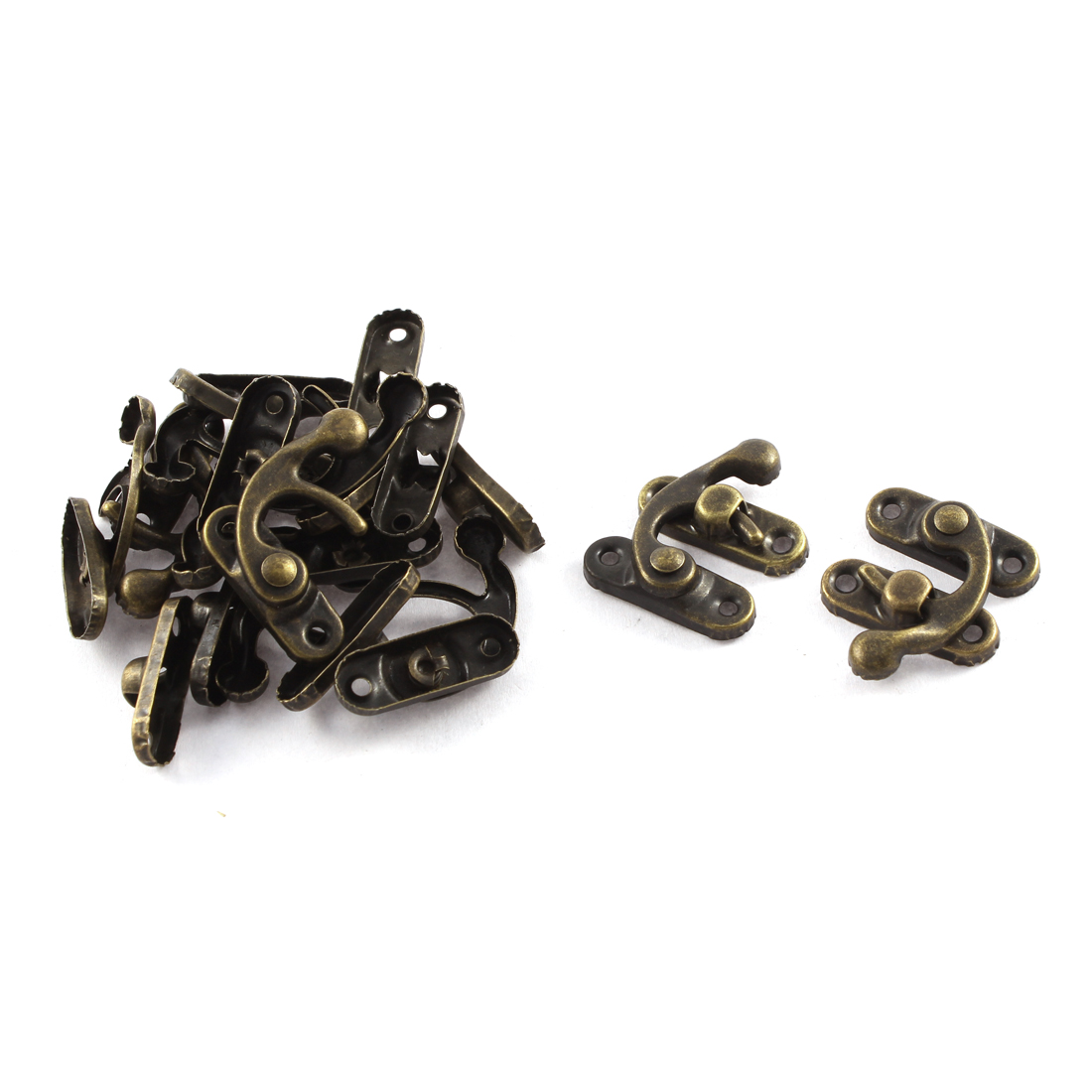 10 Pcs Retro Style Swing Bag Clasp Closure Lock Suitcase Box Latch Bronze Tone