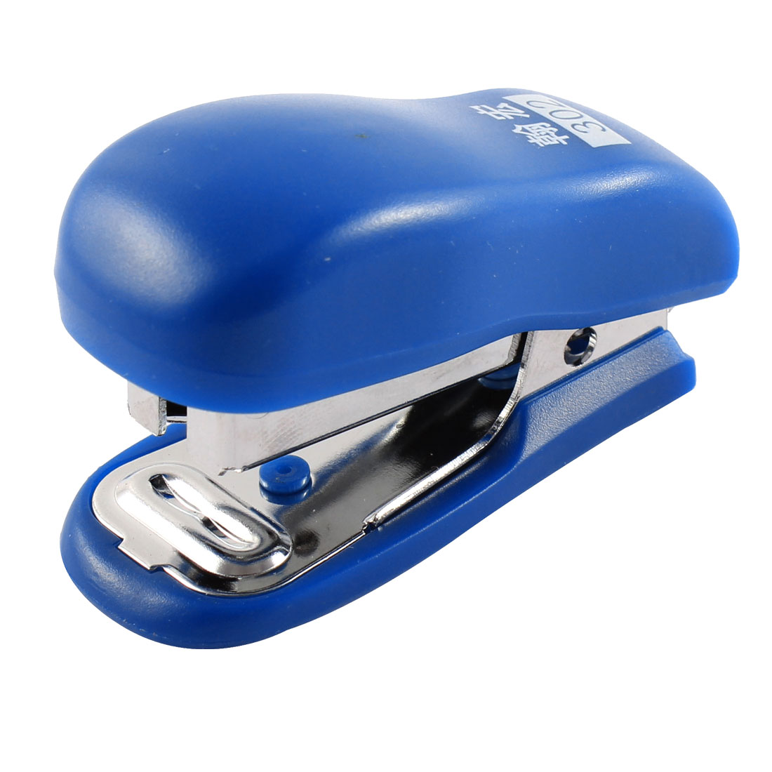 Office Woker School Study Papers Plastic Shell Stapling Mini Stapler Blue