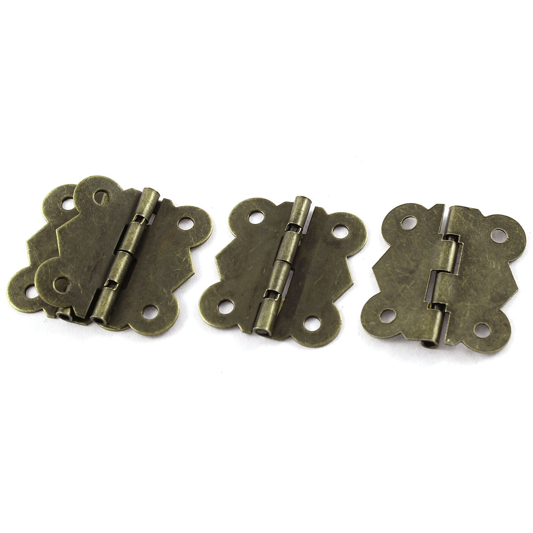 4 Pcs Bronze Tone Butterfly Style DIY Repair Cabinet Drawer Door Hinge