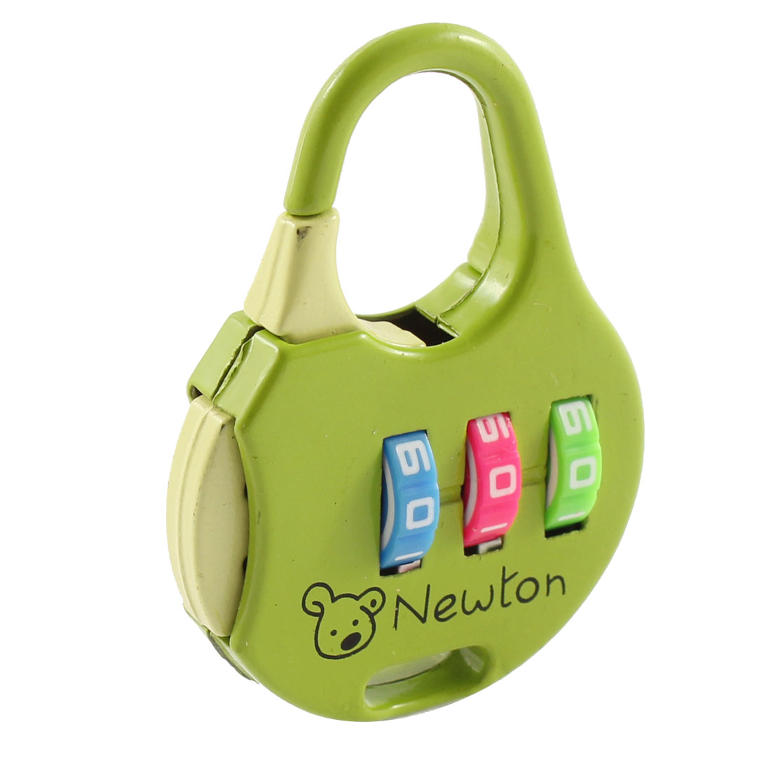 Travel Luggage 3 Dial Digit Resettable Password Combination Lock Padlock Green