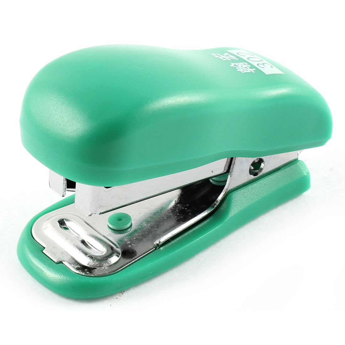 Office Worker School Plastic Student Papers Shell Stapling Mini Stapler Green