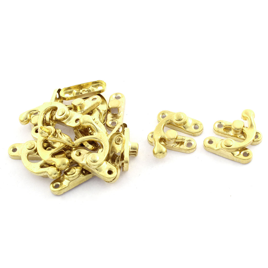 10 Pcs Left Swing Arm Clasp Screw Mounted Wooden Box Latch 3mm Diameter Hole