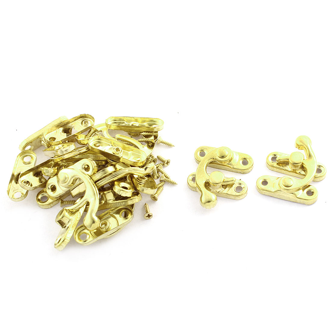 10 Pcs Right Swing Arm Clasp Screw Mounted Packing Parts Wooden Box Latch
