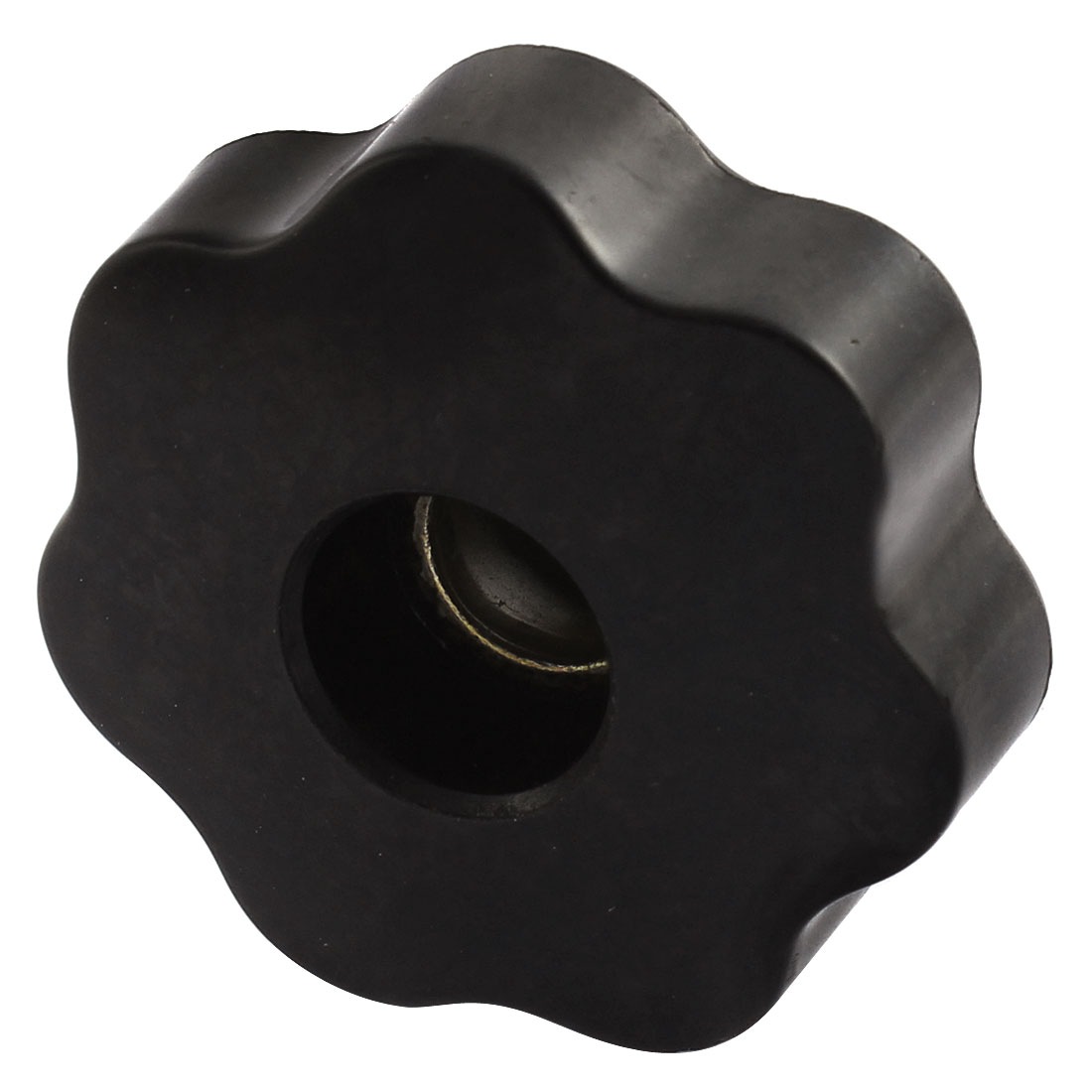 M10 Female Thread 50mm Head Diameter Star Torx Clamping Knob Black