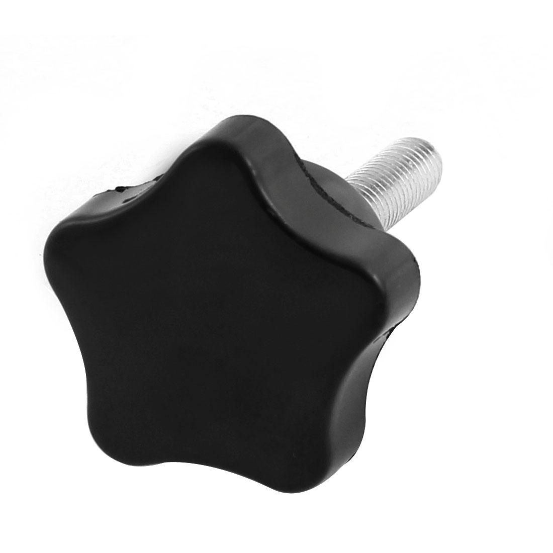 30mm Plastic Star Head M6x30mm Male Thread Screw on Clamping Knob