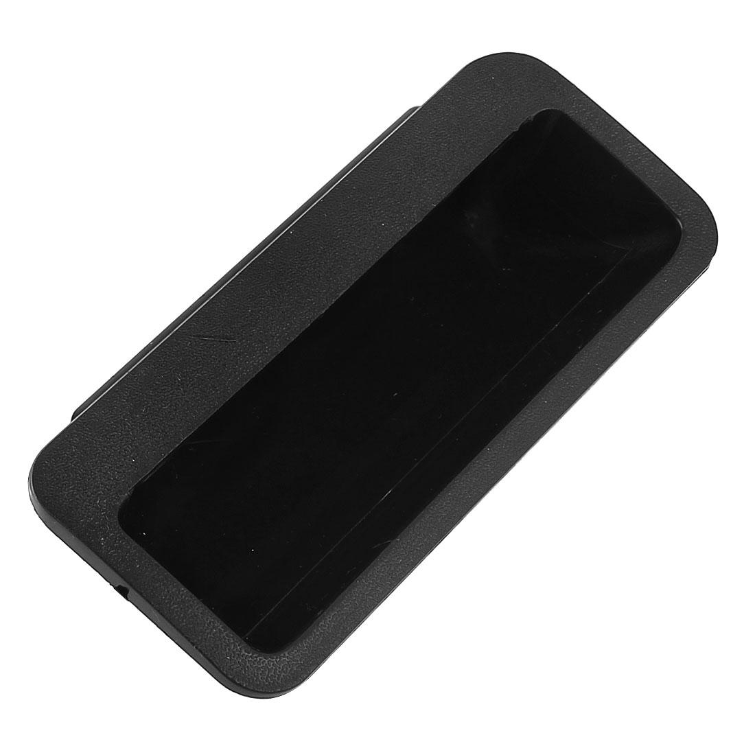 Closet Cabinet Door Rectangle Plastic Flush Recessed Pull Handle Black