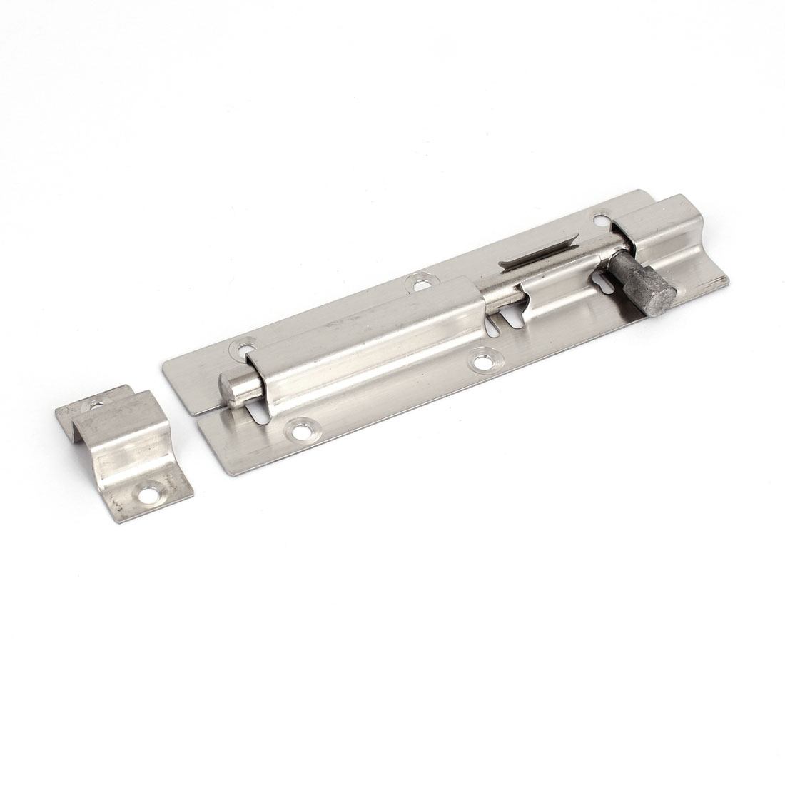 "Stainless Steel Gate Lock Safety Door Barrel Bolt Latch Hasp Stapler 5"" Length"