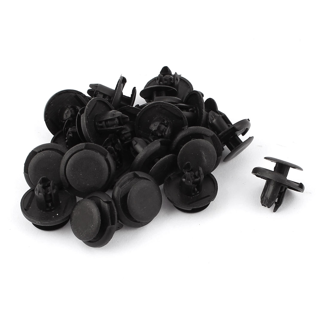 20 Pcs Black Plastic Splash Guard Fastener Rivet Clips 8mm x 10mm x 19mm