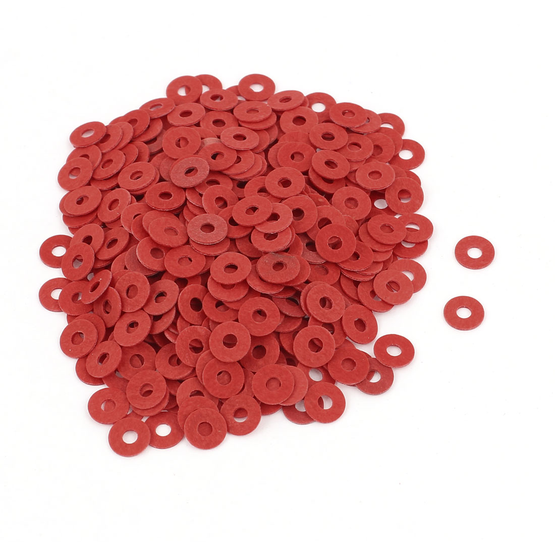 Fiber Flat Insulating Washer Ring 2mmx6mmx0.5mm 500Pcs Red for Screws
