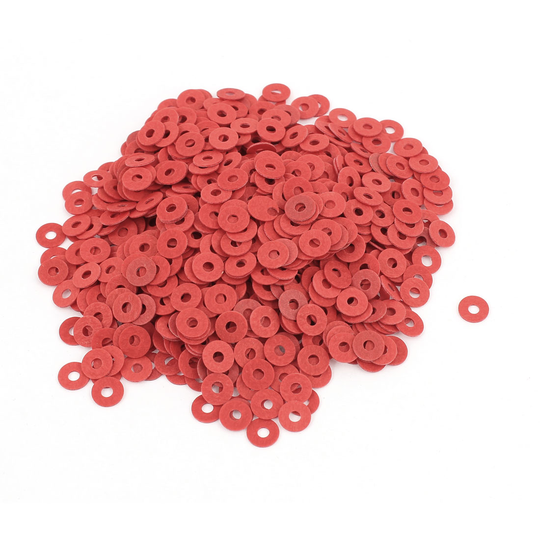 Fiber Flat Insulating Washer Ring 2mmx6mmx0.5mm 1000Pcs Red for Screws