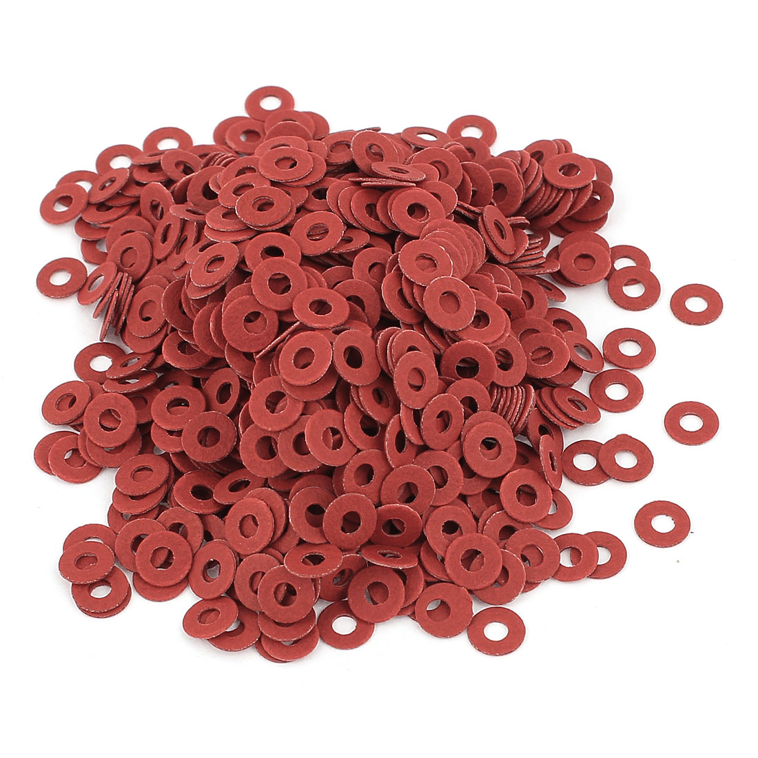 Fiber Flat Insulating Washer Ring 2.5mmx6mmx0.5mm 1000Pcs Red for Screws