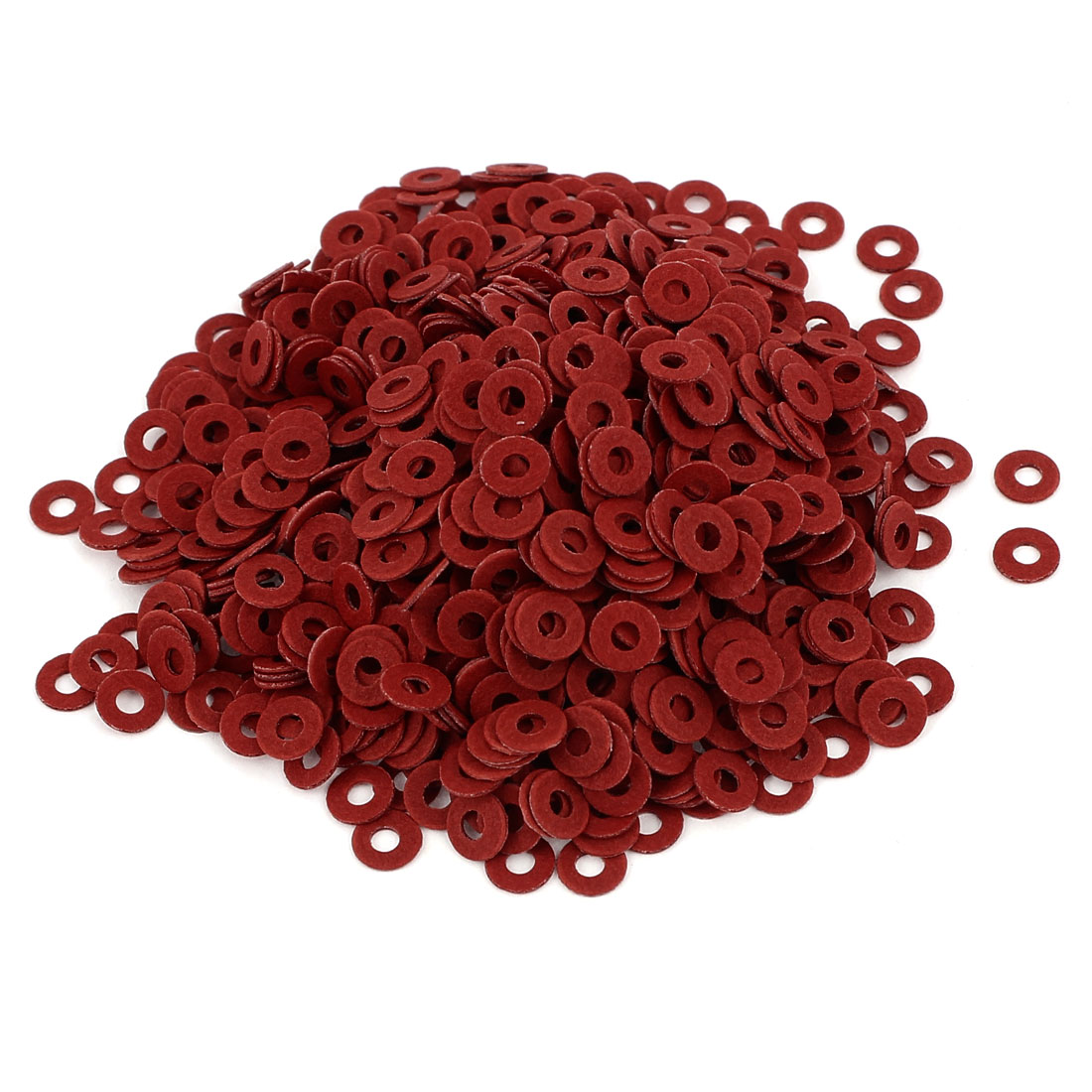 Fiber Flat Insulating Washer Ring 2mmx5mmx0.5mm 1000Pcs Red for Screws