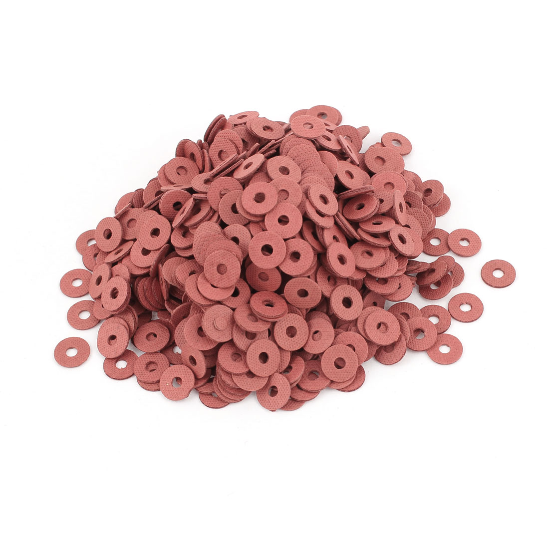 Fiber Flat Insulating Washer Ring 3mmx10mmx1mm 1000Pcs Red for Screws