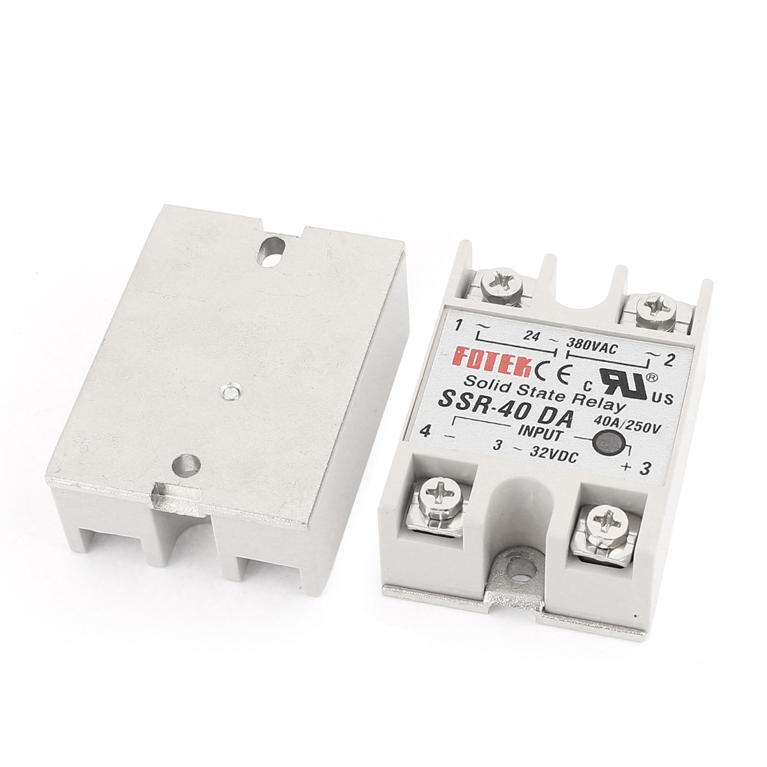 SSR-40DA DC 3-32V 40A Input Single Phase Solid State Relay 2Pcs