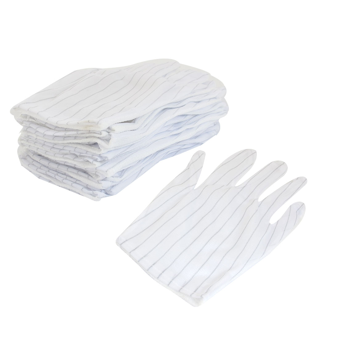 12Pairs Stripe Print Nonslip Dotted Palm Anti Static ESD Safe Working Gloves