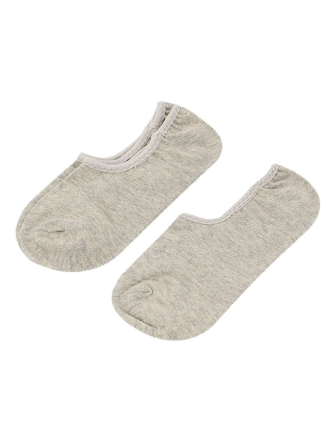 2 Pairs Sport Gray Elastic Invisible Low Cut Heels Boat Footie Socks Socken for Lady