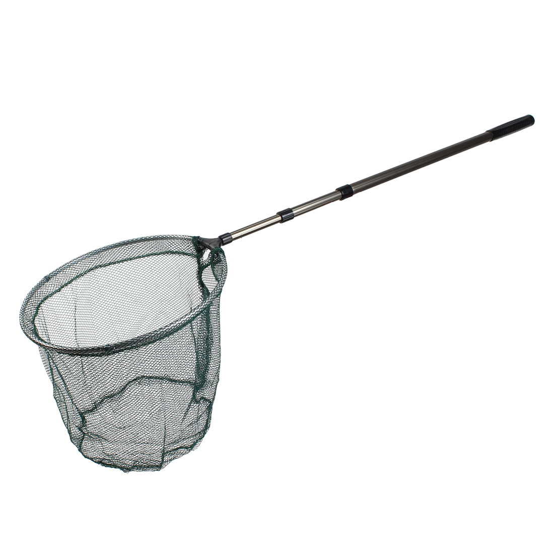 5ft 147cm Long Retractable Pole 3 Section Folding Handle Fishing Landing Net Fish Mesh Tackle