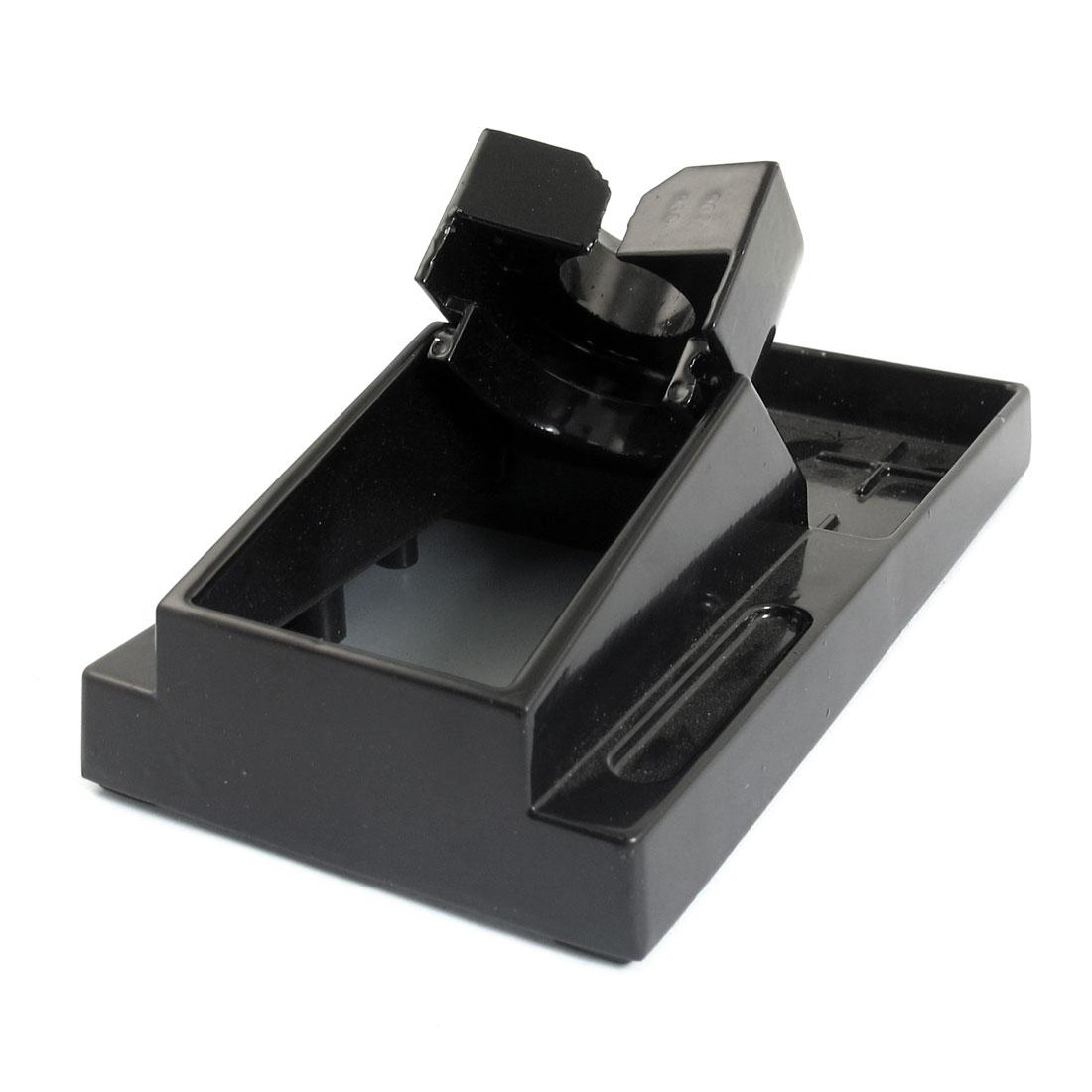 16cm x 8cm Benchtop Base Black Metal Soldering Iron Stand Holder