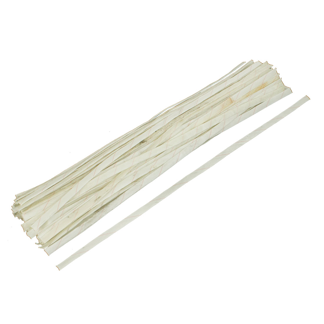 70 Pcs 80cm Long 12mm Dia Electrical Wire Fiberglass Insulation Sleeve