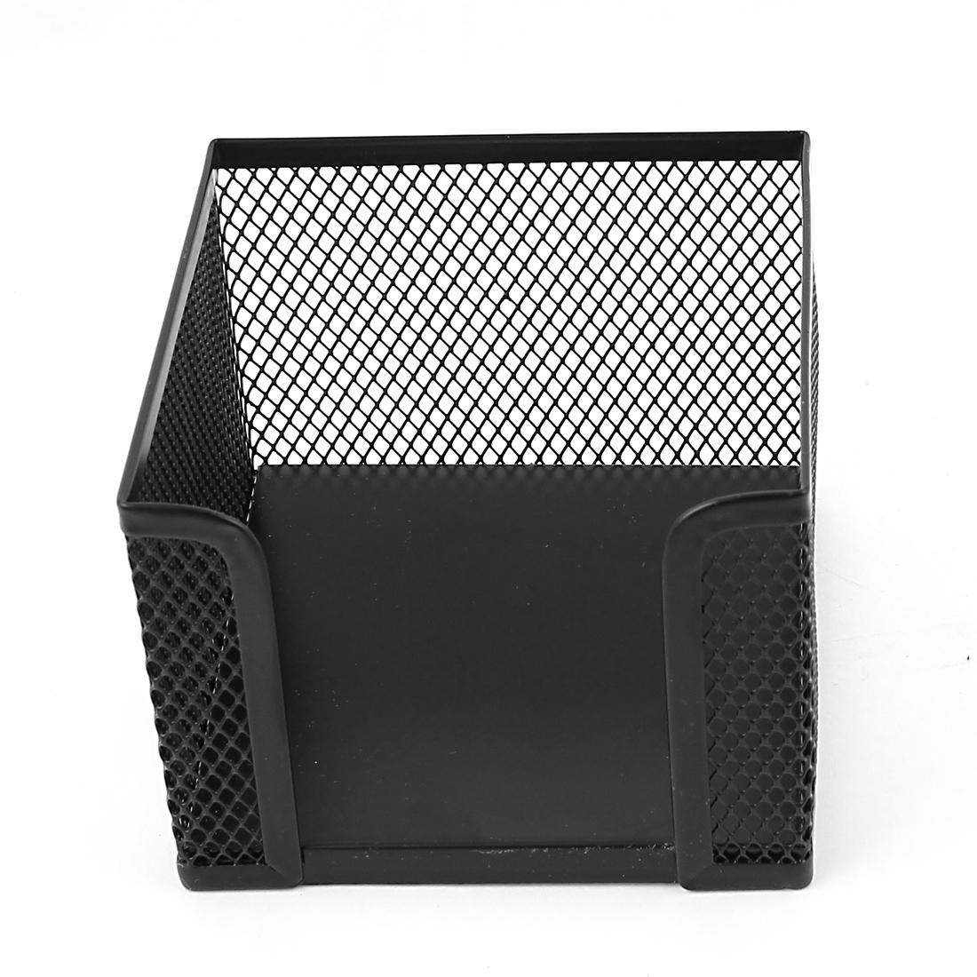 Office Space Desktop Decor Black Metal Mesh Design Pen Pencil Holder Desk Container