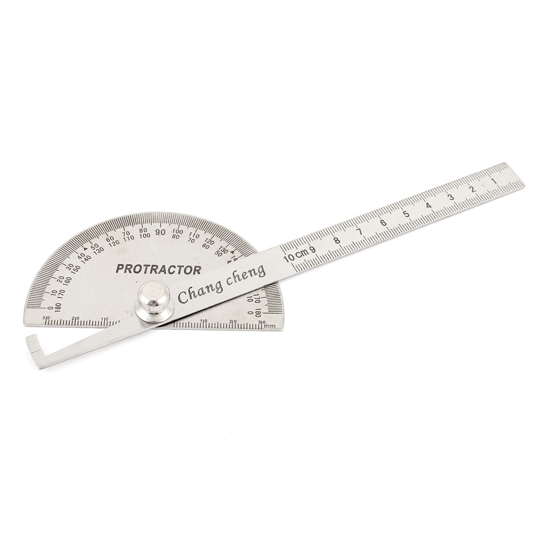 Stainless Steel Round Head Rotary Protractor Angle Ruler Measuring Tool for Student Carpenter Architect