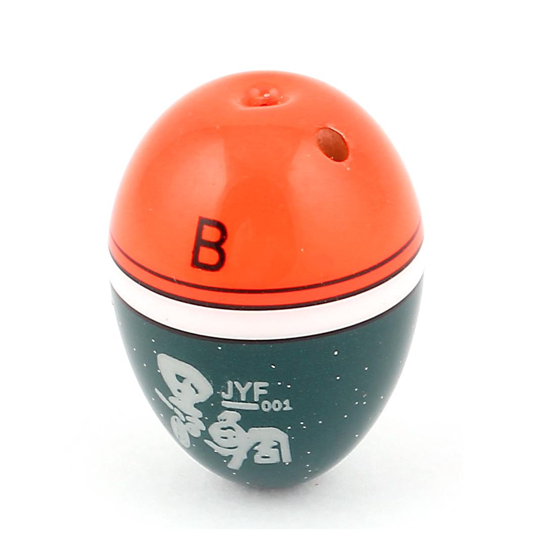 Plastic Oval Shaped Universal Fishing Floater Bobber for Fisherman Orangered Green