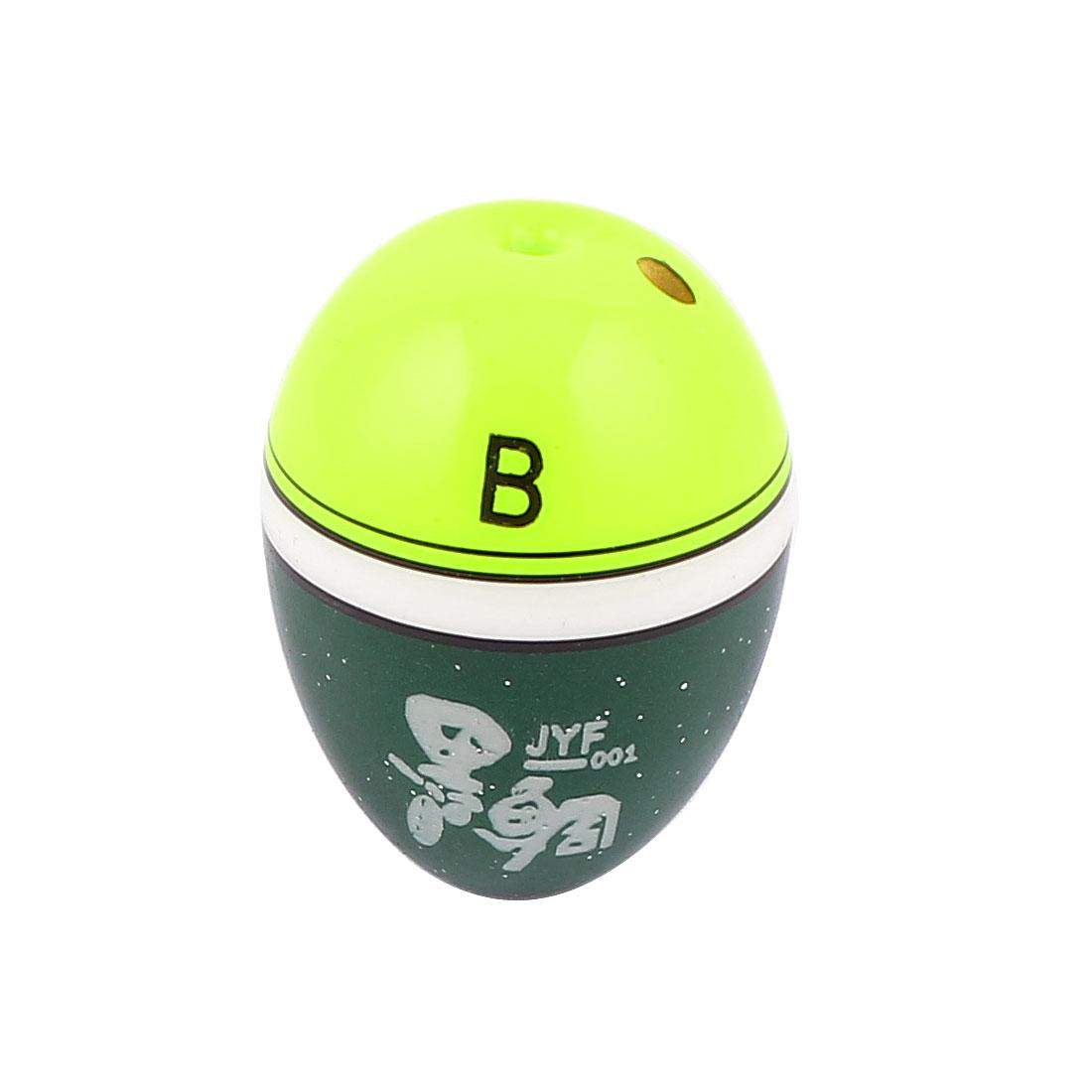 Plastic Oval Shaped Universal Fishing Floater Bobber for Fisherman Light Yellow Green