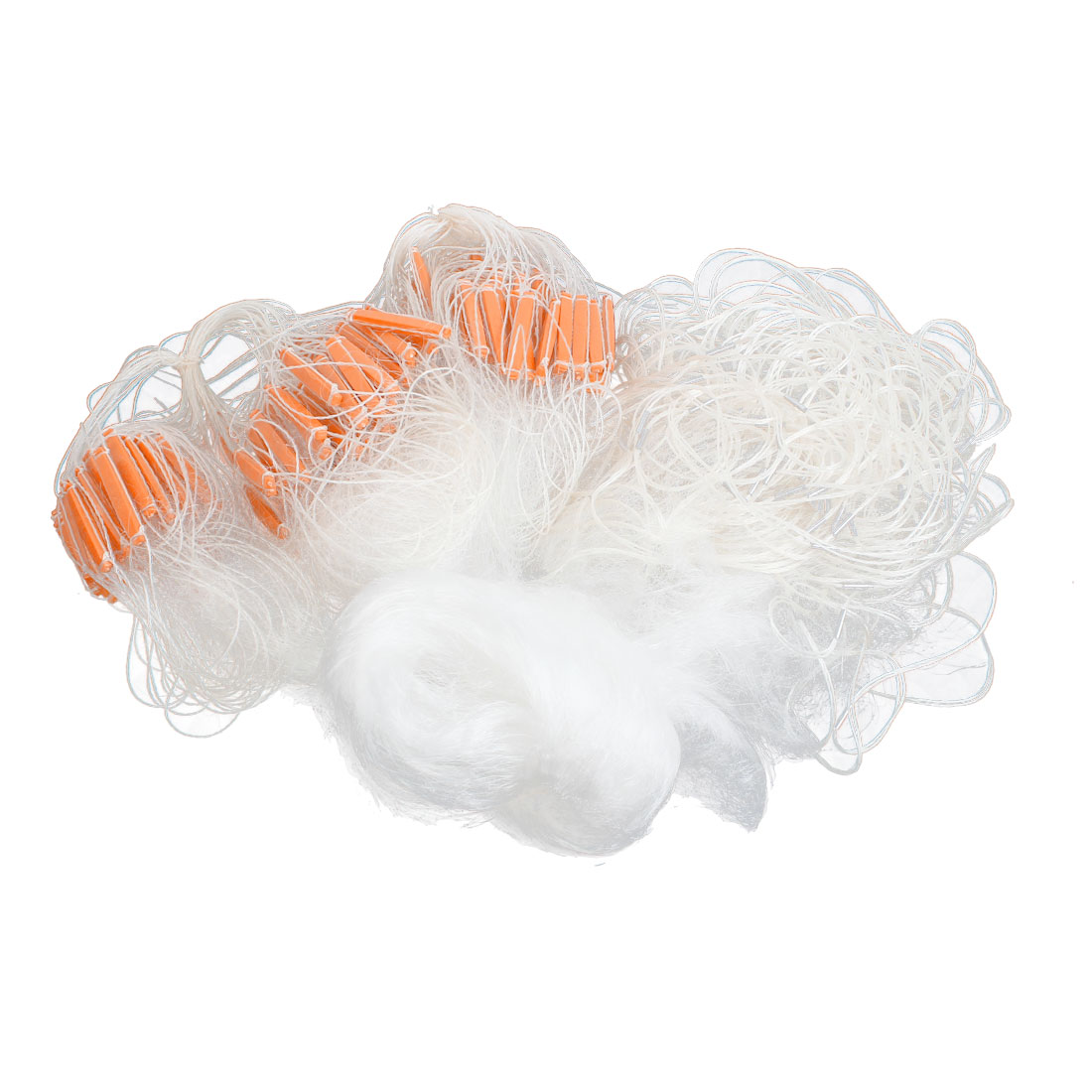 80M 262.5ft Long 0.75M 2.5ft Wide Monofilament Fishing Gill Net w Float Orange White