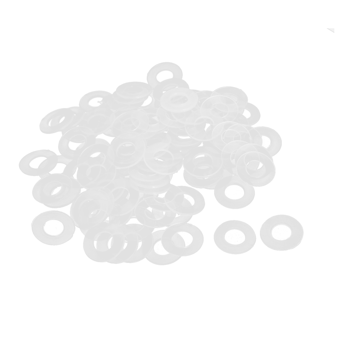 16mm x 8mm x 0.9mm Nylon Flat Insulating Washers Spacer Gasket Clear 100pcs