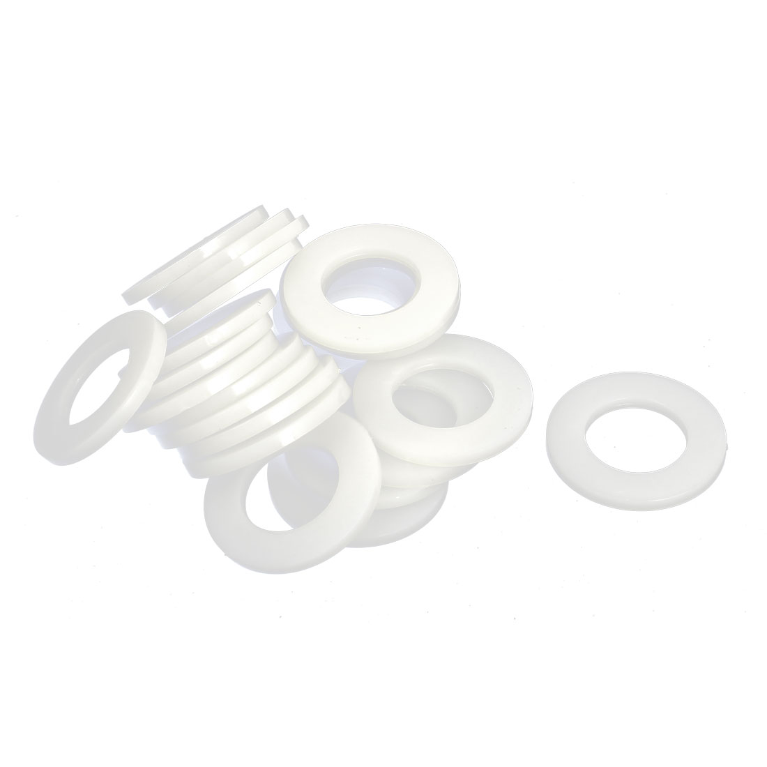 36mm x 20mm x 3mm Nylon Flat Insulating Washers Spacer Gasket Beige 25pcs