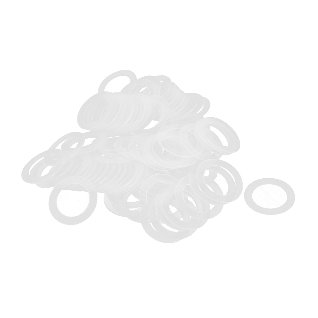 30mm x 20mm x 1mm Nylon Flat Insulating Washers Spacer Gasket Clear 100pcs