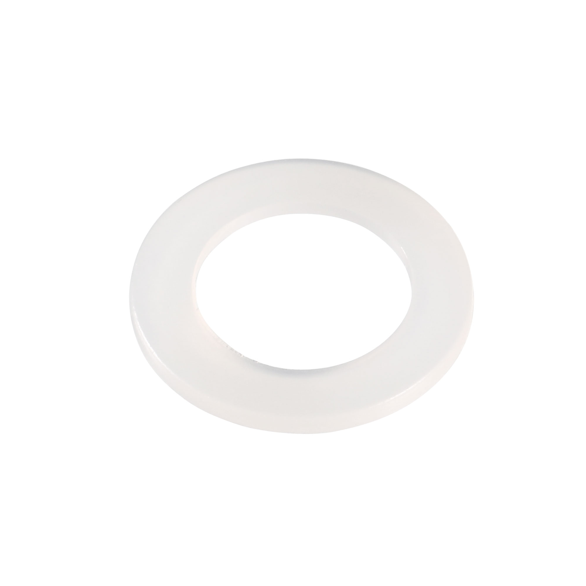 16mm x 10mm x 1mm Nylon Flat Insulating Washers Spacer Gasket Clear 100pcs