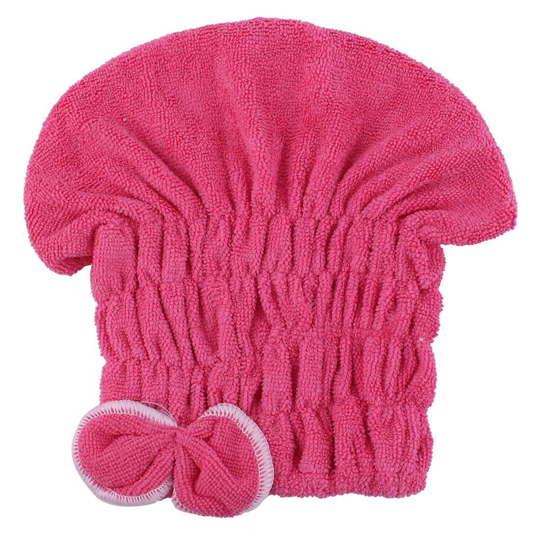 Lady Gym Travel Swimming Shower Pink Microfibre Elastic Hair Fast Dry Drying Cap Turban Towel