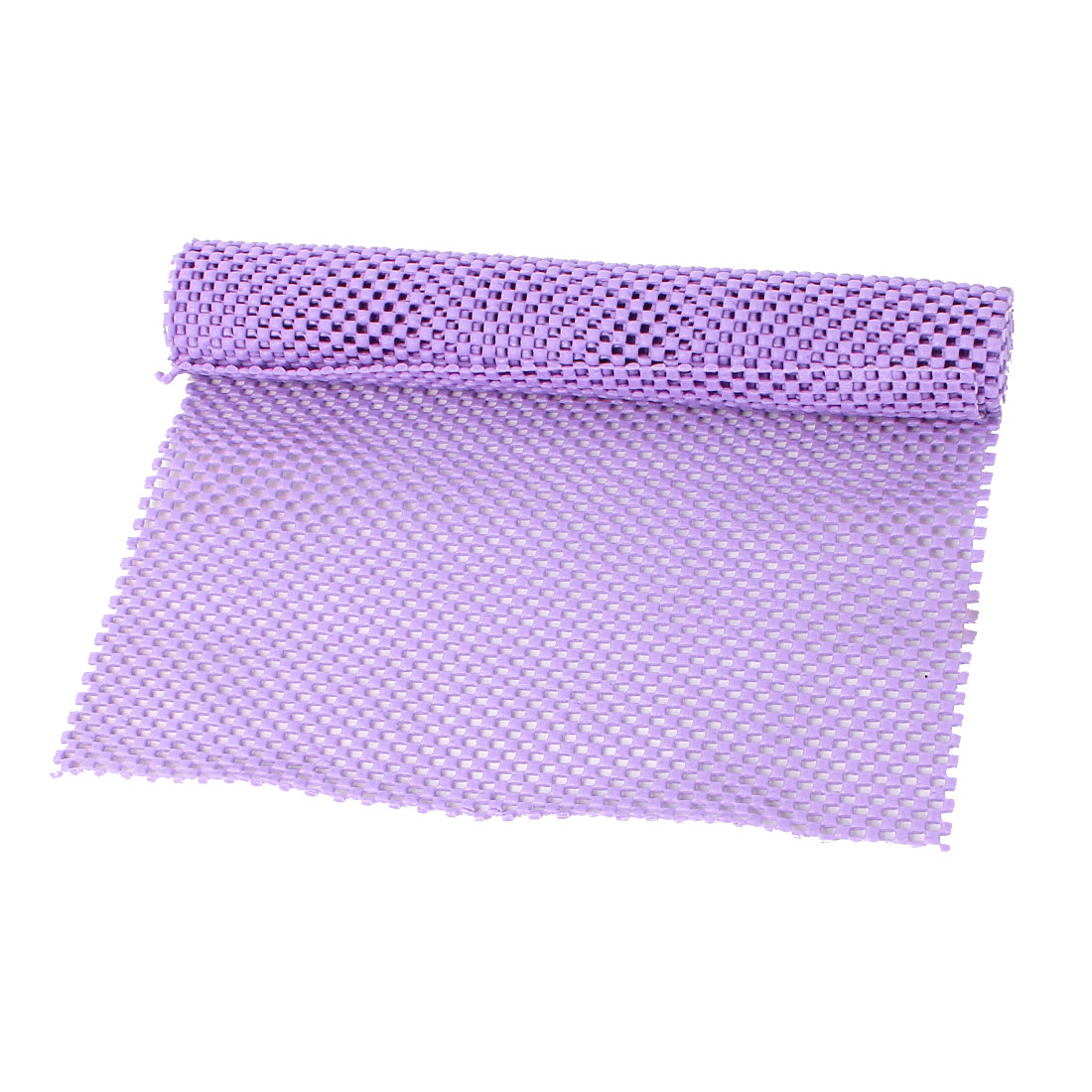 Car Vehicle Auto Purple Soft Foam Embossed Grid Liner Antislip Mat Pad 90cm x 30cm