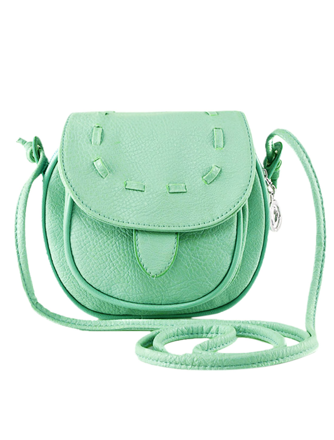 Ladies Stitching Flaptop Straps Mini Crossbody Bags Mint