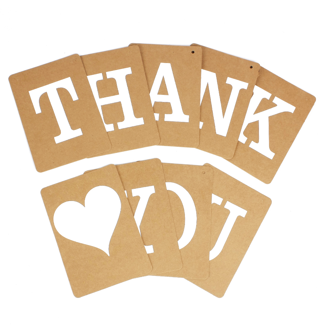 THANK YOU Wedding Banner Bunting Venue Party Letter Decoration Photo Props Khaki