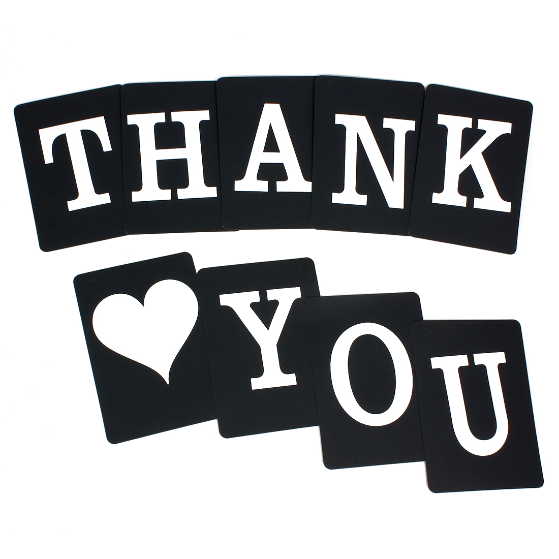 THANK YOU Bunting Sign Wedding Birthday Banner Photo Prop Party Decor Black