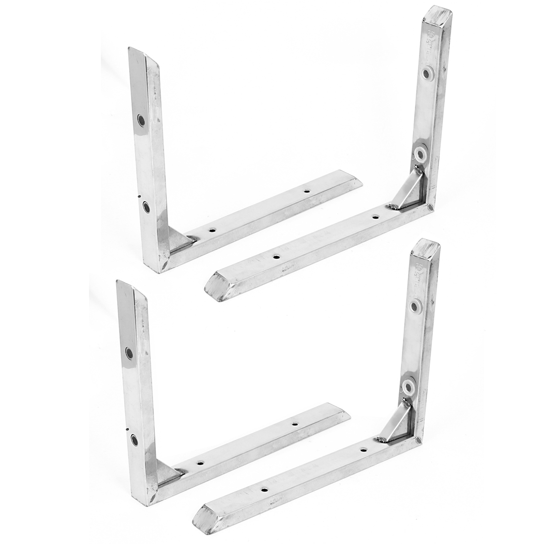 "4pcs 2.5cm Wide Stainless Steel L Shaped 90 Degree Angle Shelf Brackets 10"" x 8"""