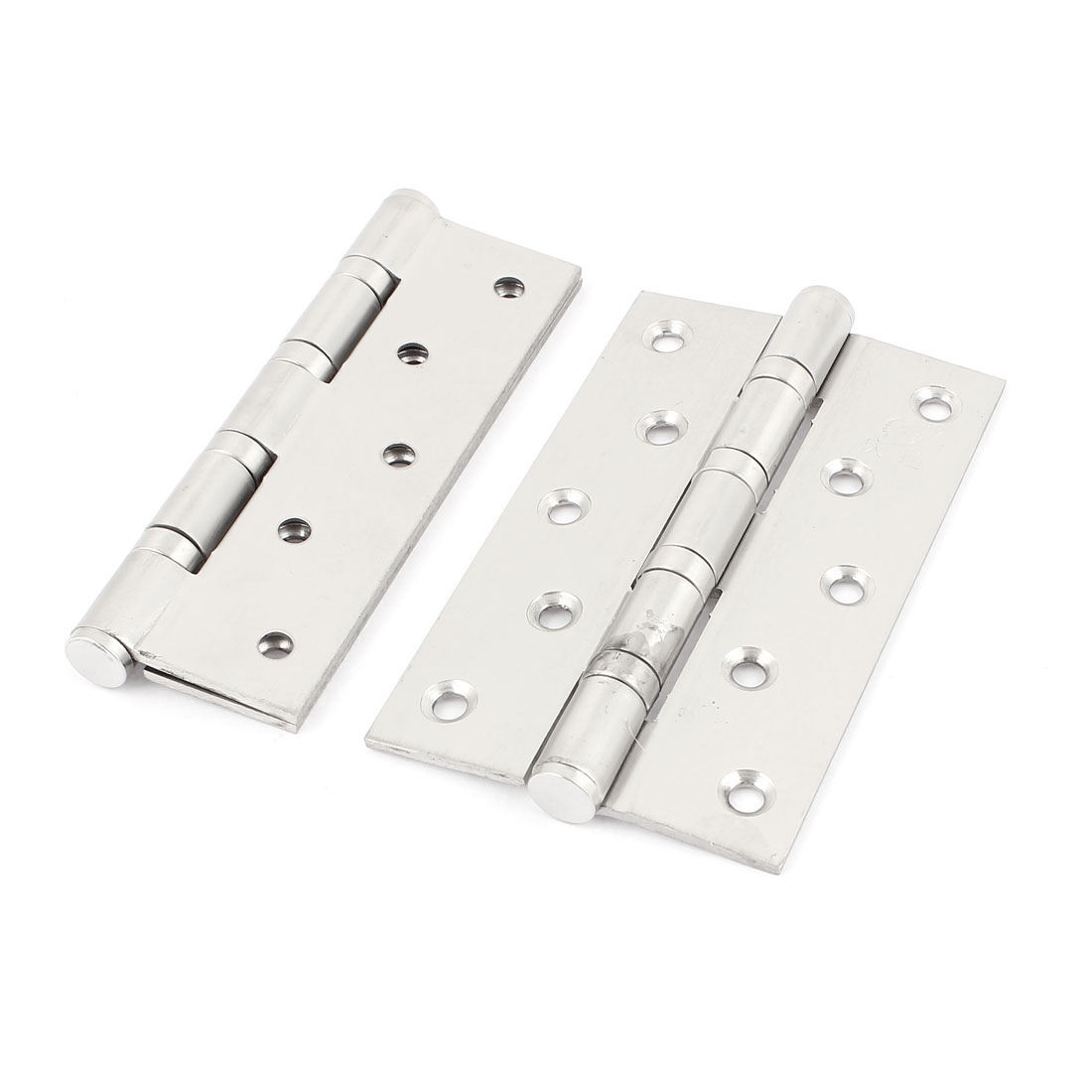 "Cupboard Cabinet Stainless Steel Folding Door Butt Hinges 5"" Length 2 Pcs"