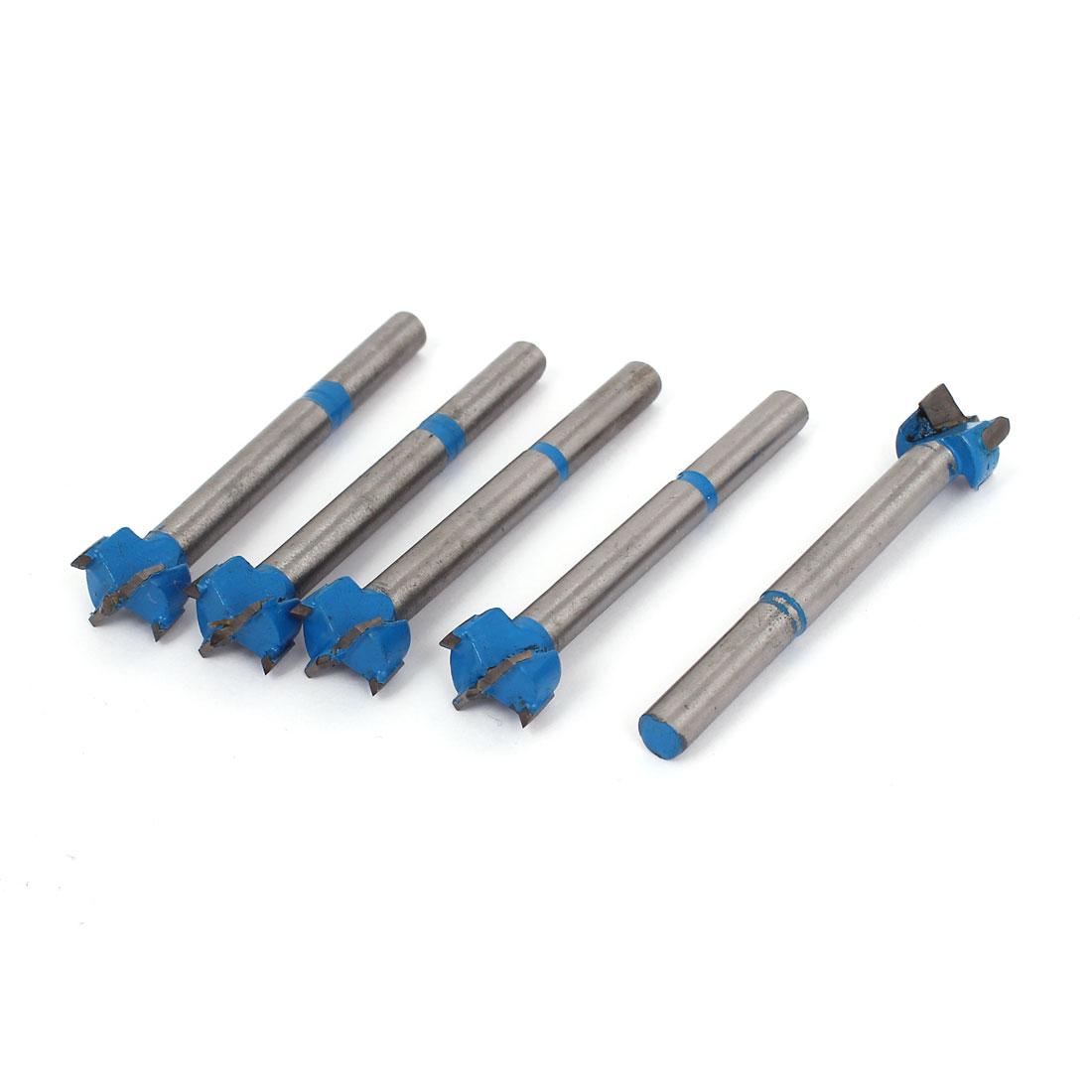 5 Pcs 15mm Hinge Forstner Drill Bit Wood Boring Hole Saw Cutter for Carpenter