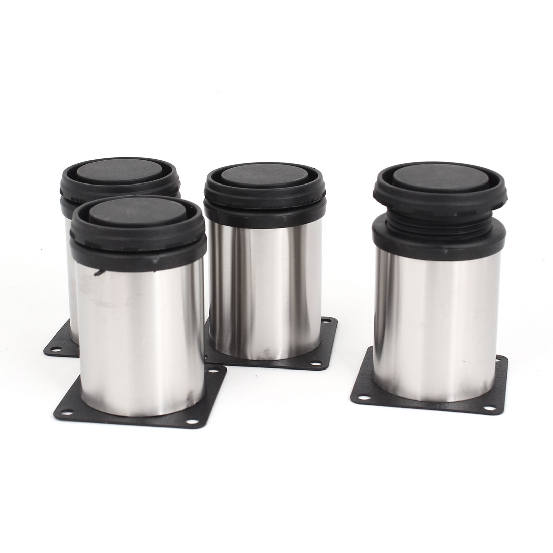 4pcs 80mm x 50mm Adjustable Plinth Leg Feet for Kitchen Cabinet Furniture Sofa