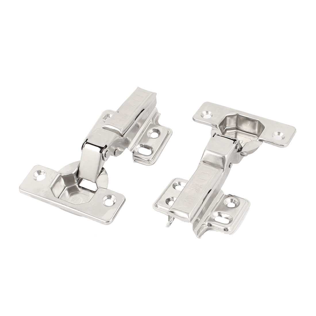 Furniture Hardware Stainless Steel Half Overlay Concealed Cabinet Hinge 2 Pcs