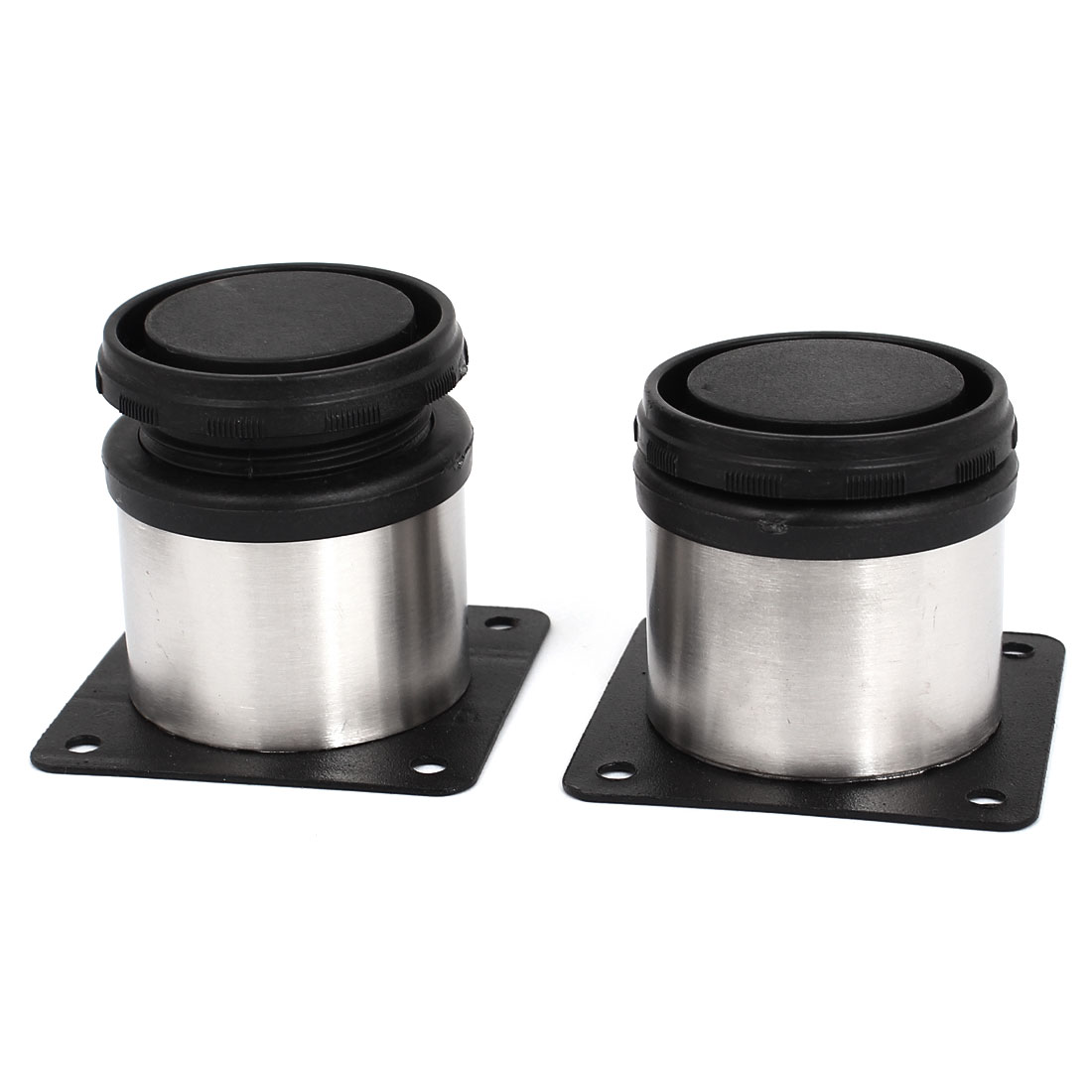 2pcs 50mm x 50mm Adjustable Plinth Leg Feet for Kitchen Cabinet Furniture Sofa