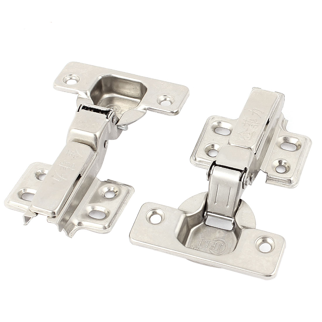 Cabinet Cupboard Door Self Closing Half Overlay Concealed Hinges Hardware 2 Pcs