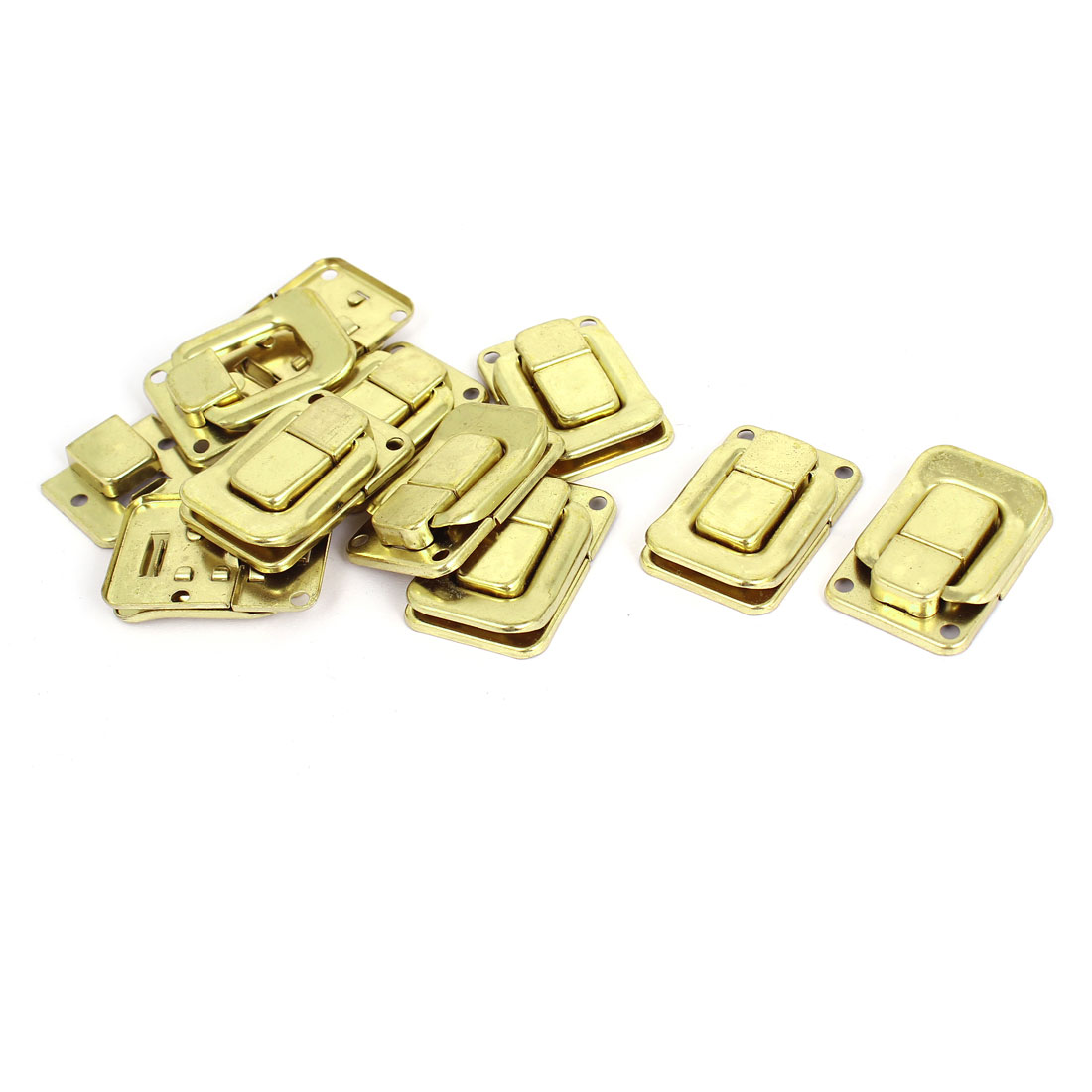 Suitcase Case Box Trunk Metal Toggle Catch Latch Gold Tone 40mmx27mm 10 Pcs