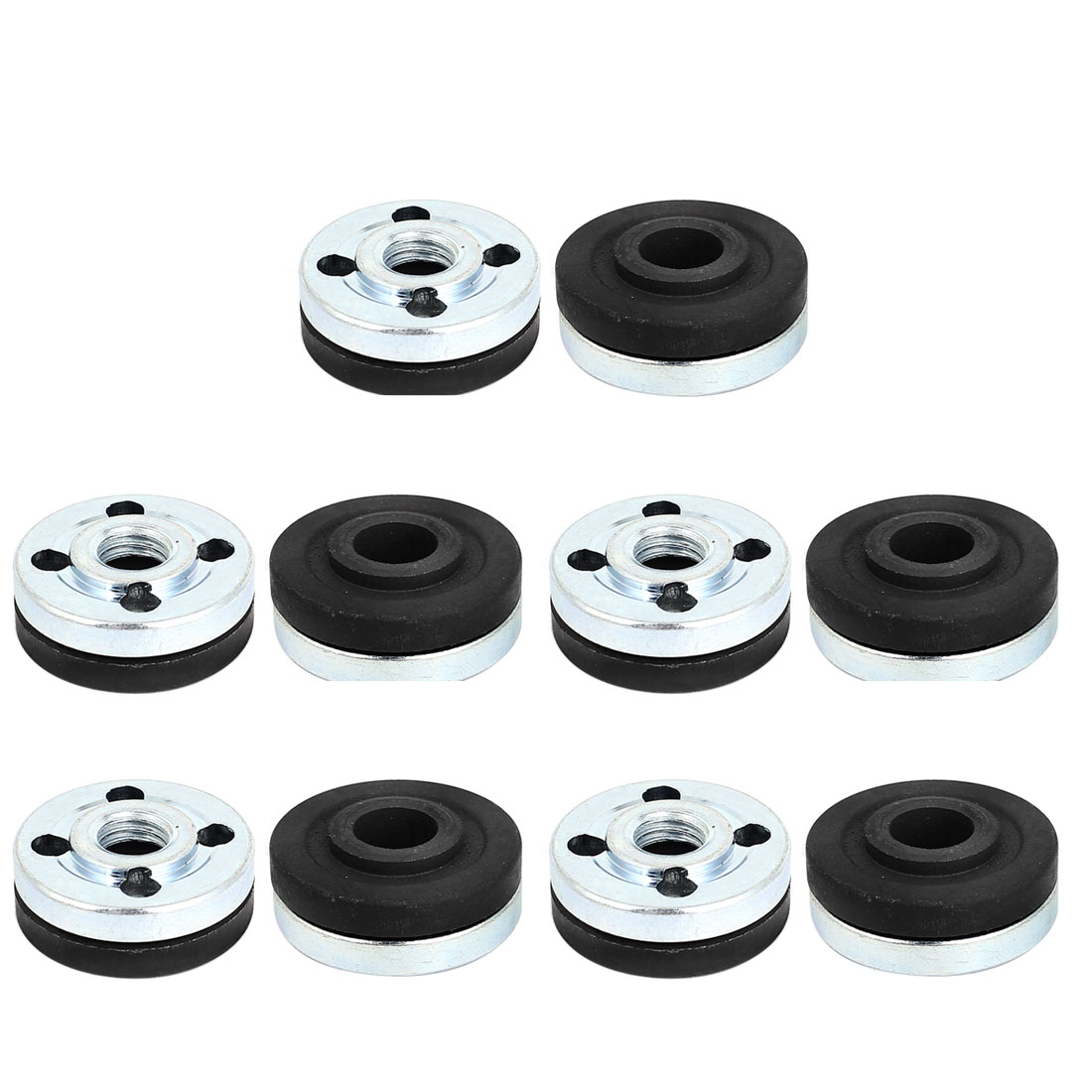 10 Pair Round Clamp Inner Outer Nuts Flange Fixing for Makita 9523 Angle Grinder
